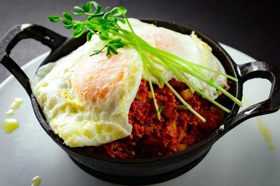 Smithfield, Ρόουντ Άιλαντ: Eggs, corned beef and hash