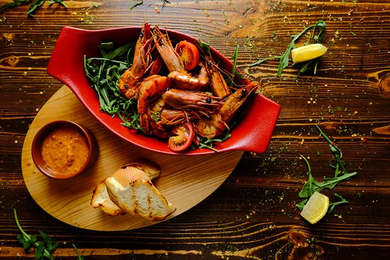 Fish House: Fried Prawns with Peri-Peri sauce