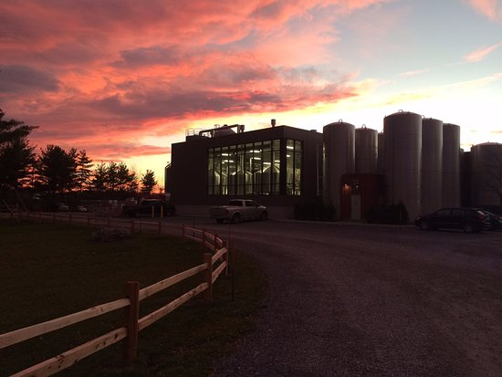 Middlebury, VT: Sunset over Otter Creek Brewing