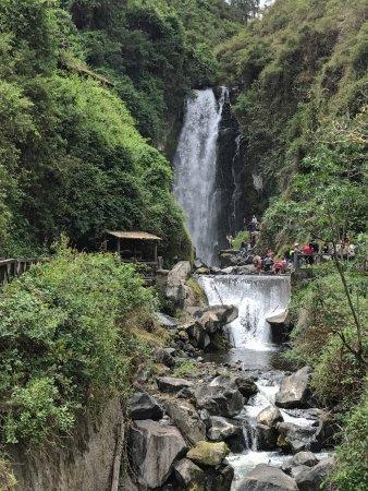 Peguche, Ecuador: the falls - quite modest by most any measure