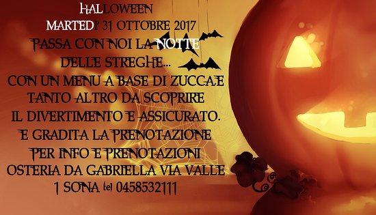 Sona, İtalya: prenota anche tu un tavolo per la notte delle streghe...non te ne pentirai!!