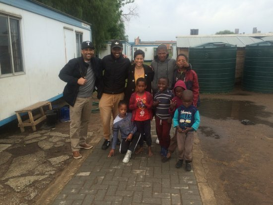 Soweto, South Africa: Our guest from Texas made a short visit to one of the kids project the project is called The Sha