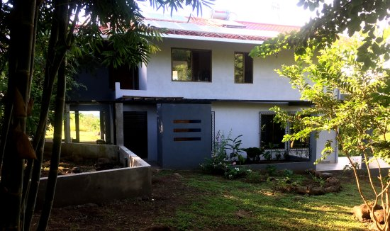 Balgue, Nicaragua: Evolving entry area_we are working to finish gardens, parking and paths