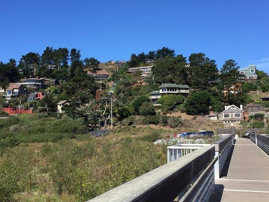 Mill Valley, CA: Residences overlooking Muir Beach and start of overlook walkway