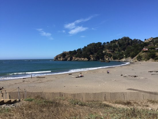 Mill Valley, CA: Panoramic view of Muir Beach from overlook