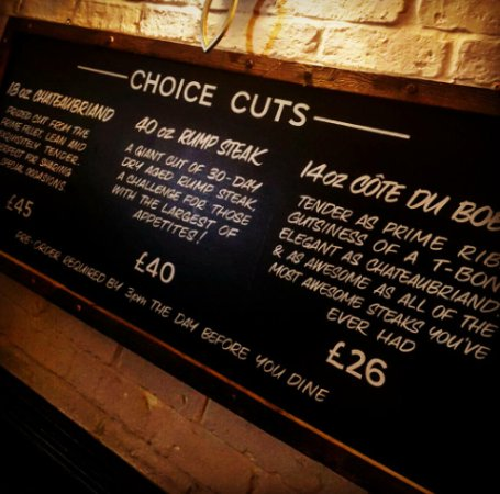 Chipping Sodbury, UK: Some of the Choice Cuts we have on offer at The Sodbury Steakhouse at The Squire