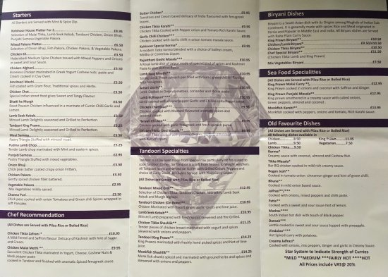 Banbridge, UK: Menu