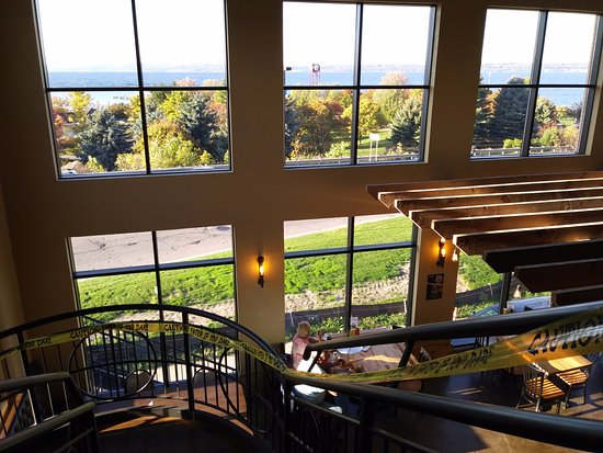 Petoskey, Μίσιγκαν: view from 2nd floor into bay