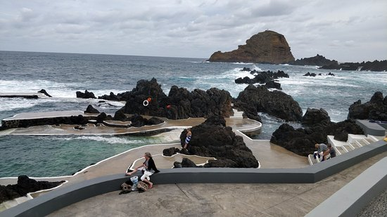 Porto Moniz, Portugal: Pools are properly surfaced. Don't need shoes