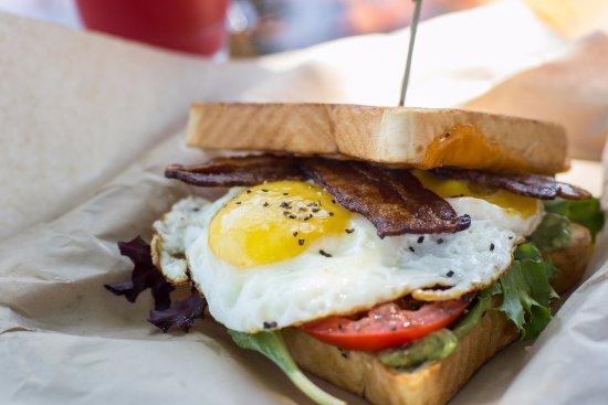 revelry kitchen bar breakfast sandwich featured on sunday brunch - Revelry Kitchen