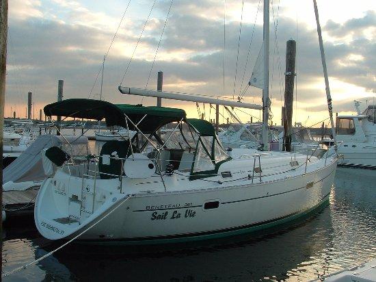 Our fleet includes Optimists, Sonars 23, a Catalina 25, a