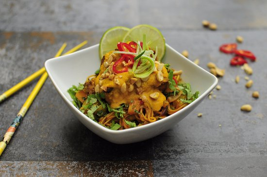 Rickmansworth, UK: Satay Tofu and Singapore noodles from our Vegan Class
