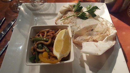 Panama Hatty's: ORIENTAL SEA-BASS FILLETS - Stir fried vegetables, noodles.