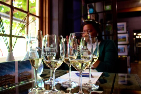 Cuvee Restaurant at Simonsig: wine tasting is extensive here