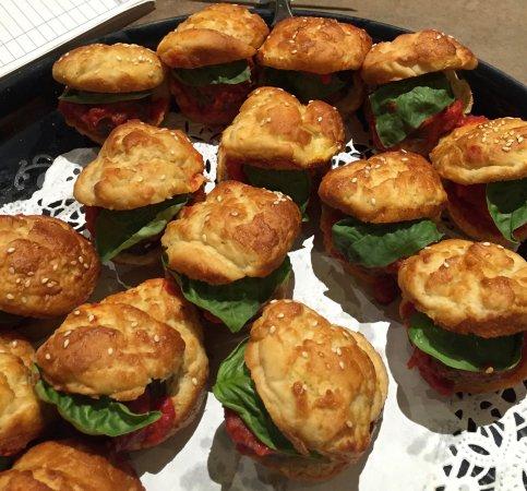 Rye, NY: Vegan Gluten Free Mushroom Sliders on fresh buns