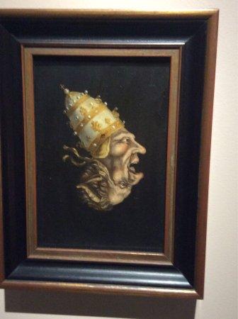 Museum Catharijneconvent: Deze 17e eeuwse spotprent laat ondersteboven de duivel zien, als alter ego van de afgebeelde pau