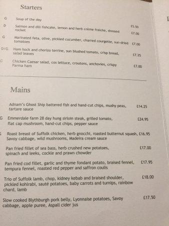 Westleton, UK: My disasterous meal