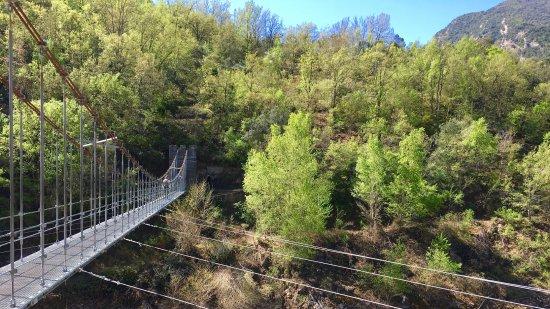 Sant Esteve de la Sarga, Spanien: Inicio del recorrido para llegar al congost de Mont-rebei, abril 2017