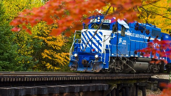 Fall color trains are offered annually from Downtown Cadillac