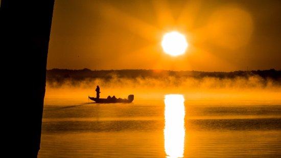 Morning fishing on Lake Cadillac
