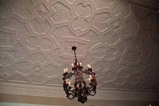 The Branch Museum Of Architecture And Design Historic Plaster Ceiling With Original Chandelier