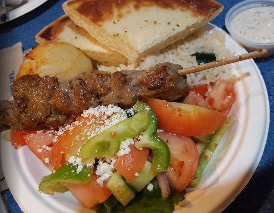 แลงลีย์, แคนาดา: Lamb Souvlaki Platter
