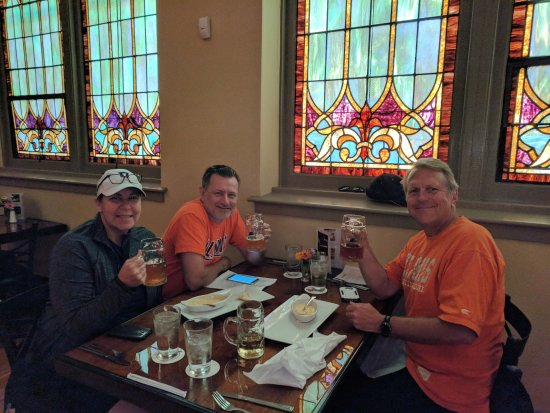 Monticello, IL: enjoying octoberfest beers