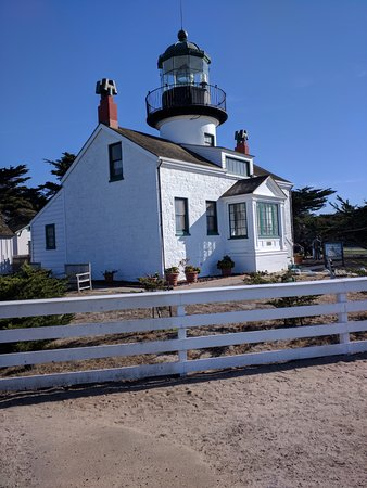 Point Pinos Lighthouse: The view of the Lighthouse from the ground on the Ocean side.