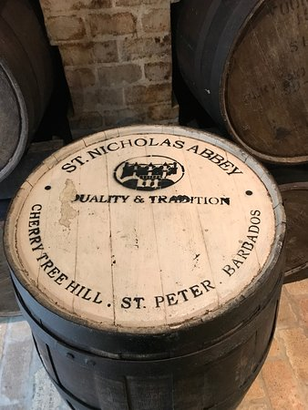 Saint Peter Parish, Barbados: Barrel of St Nicholas rum