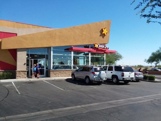 Carls Jr. 92nd ave & Northern Peoria, Arizona.  better fast food that Mcd's