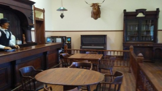 Pecos, Teksas: this is the saloon of the old hotel