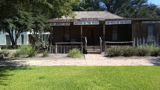 "replica of Judge Roy Bean's ""Law West of the Pecos"""