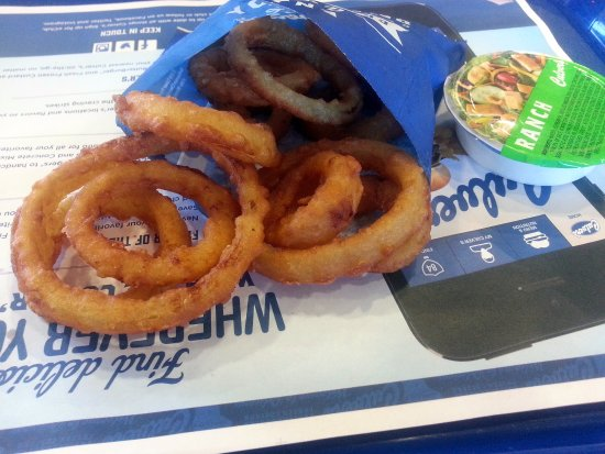 Rosemont, IL: onion rings with ranch sauce