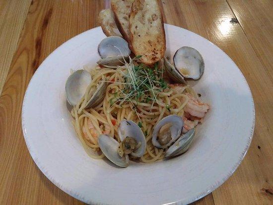 McClellanville, SC: Shrimp and Clam Pasta