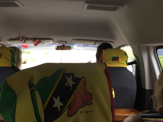Annie's Caribbean Tours and Excursions: In Annie's van...