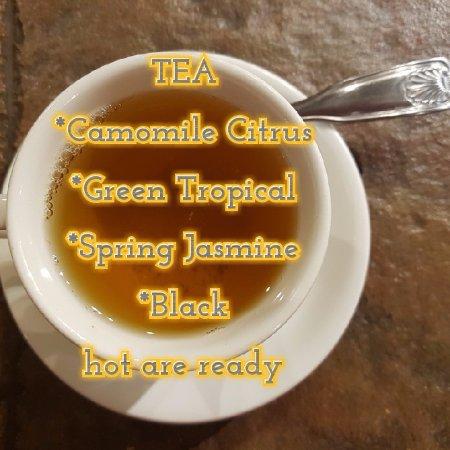 Adairsville, GA: Hot tea this winter!!! see our menu