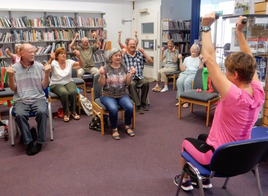 Halesworth, UK: Exercise classes in the Library every Thursday morning.