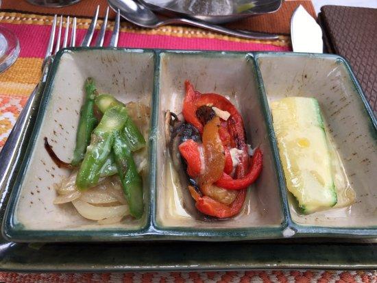 vegatables salads in Inca rail