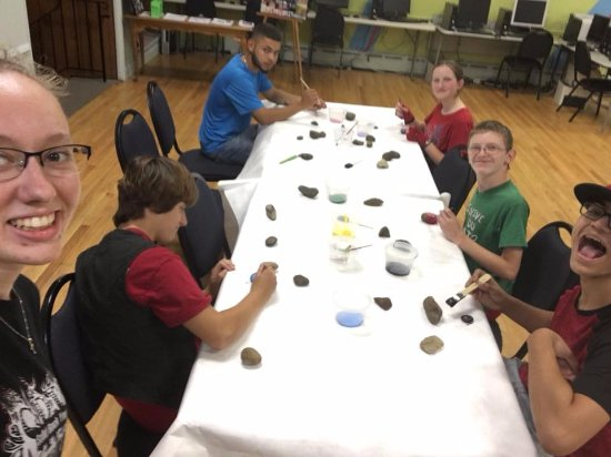 Morrisville, PA: Painting rocks is just one event. There is a different one every night!