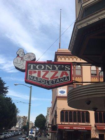 Tony's Pizza Napoletana: Look for this sign!