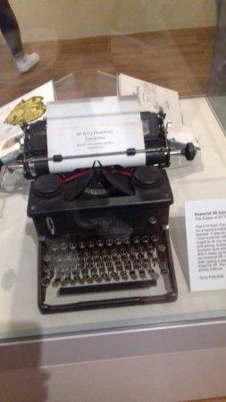 Salisbury, UK: On which he typed the books
