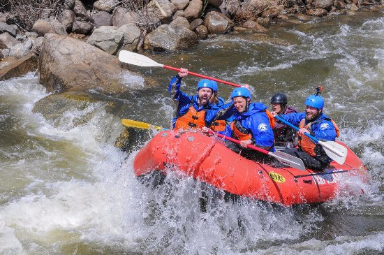 Wild whitewater rafting in Buena Vista on the Numbers!