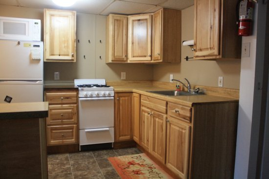 Twin Mountain, NH : kitchen area in the 2 bedroom Mount Lafayette cottage