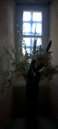 Barcaldine Castle: Little nook in the winding staircase.