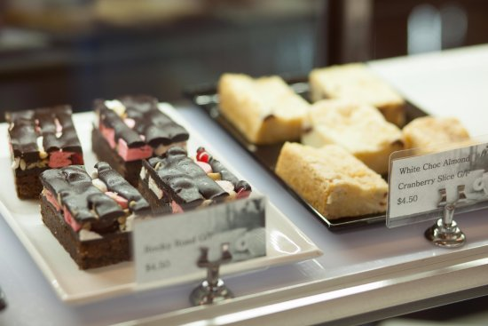 Sweet treats at Tracks Cafe, Queenstown, Tasmania