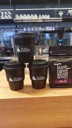 Queenstown, Australia: Tracks Cafe and West Coast Wilderness Railway proudly serves TasCaffe Tasmanian owned and roaste