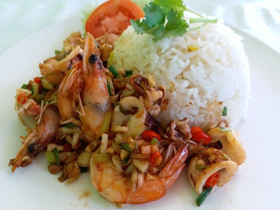 Pak Nam, Ταϊλάνδη: Rice wz spicy salted chili seafood