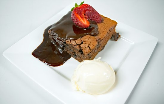 Glen Innes, Australia: Chocolate Brownie with Chocolate Ganache