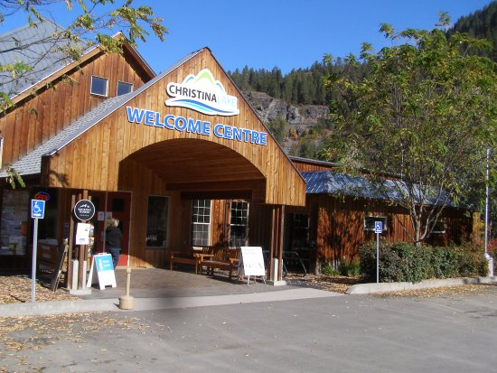 The exterior of the Christina Lake Welcome Centre.