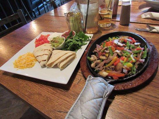 Las Vegas, Nuevo Mexico: Vegetarian fajitas